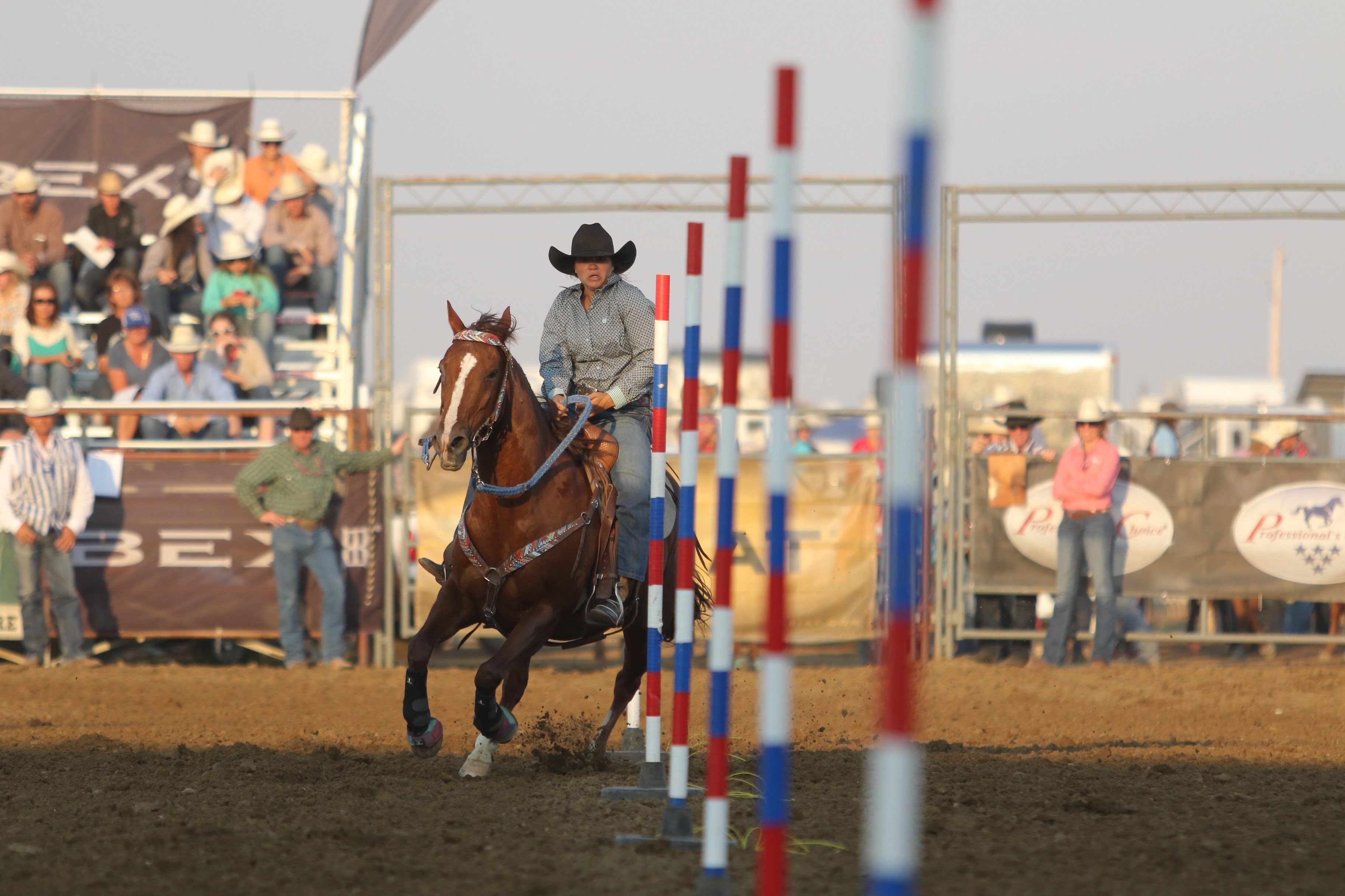 All-Around Cowgirl Shay Hough during her pole bending performance.