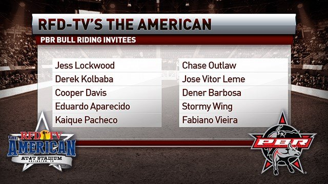 THE AMERICAN 2018: PBR Invitees