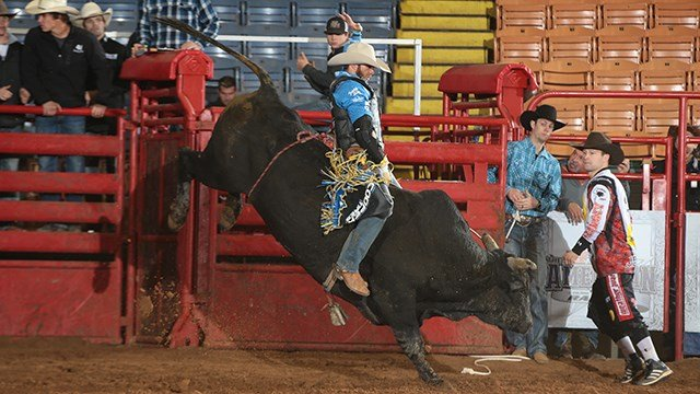 Bull riding at the THE AMERICAN Semi Finals, 2017