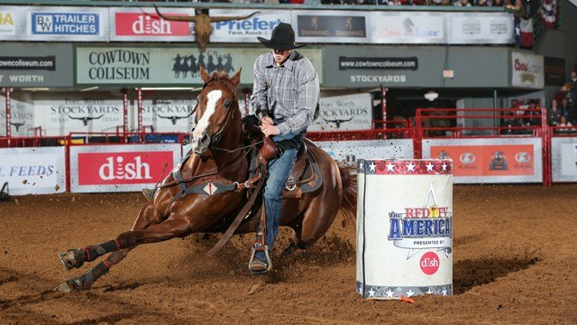 Barrel Racer Craig Brooks' performance at Round 2 of THE AMERICAN Semi-Finals, on Friday, February 23, 2018.