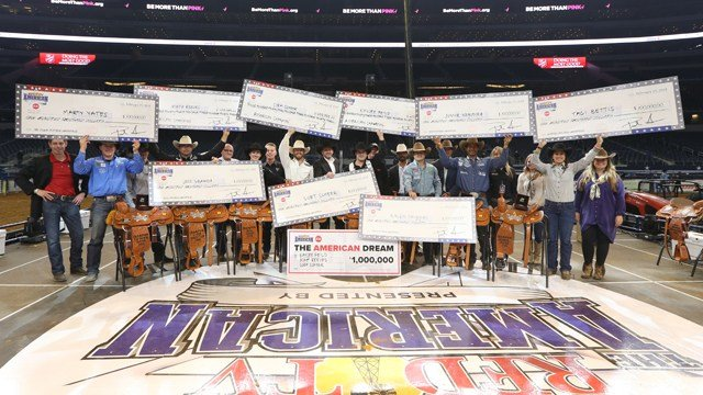 The American Rodeo Winners at THE AMERICAN presented by DISH, February 25, 2018