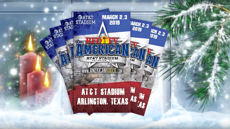 Tickets to RFD-TV'S THE AMERICAN – No Better Christmas Gift!