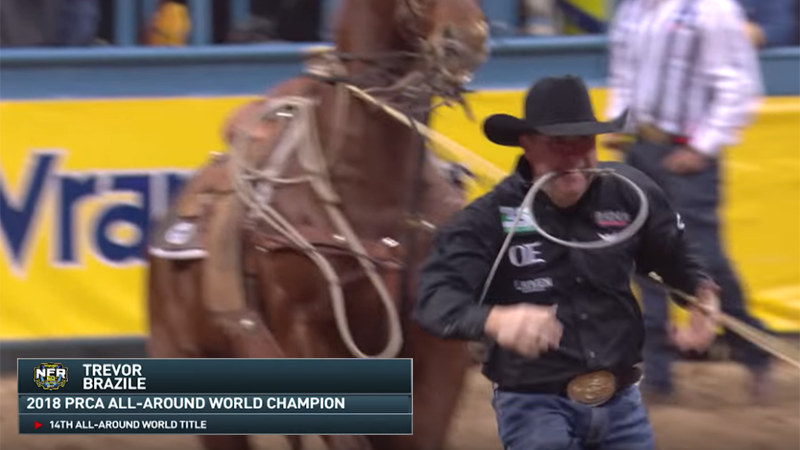 Trevor Brazile secures his 14th All-Around World Champion Title at the 2018 WNFR
