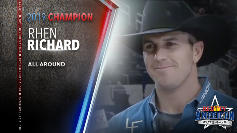 Roper Rhen Richard wins the All Around at RFD-TV's THE AMERICAN 2019