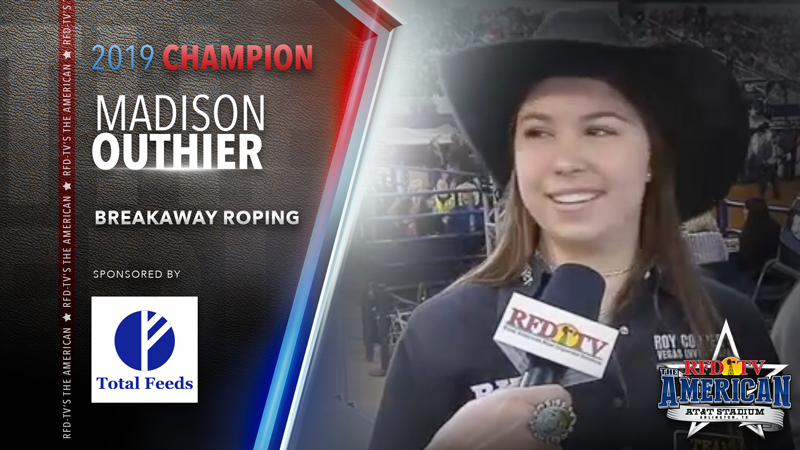 Madison Outhier wins the Breakaway Roping at RFD-TV's THE AMERICAN 2019
